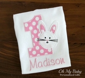 Personalized Bunny Birthday Shirt - Other Colors