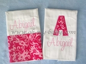 Personalized Burp Cloth Set