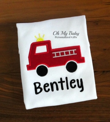 Personalized Firetruck Shirt