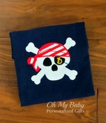 Personalized Pirate Skull Birthday Shirt
