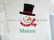 Personalized Snowman Shirt