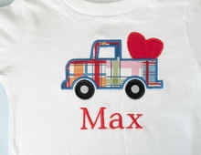 Personalized Valentine Shirt - Truck with Heart