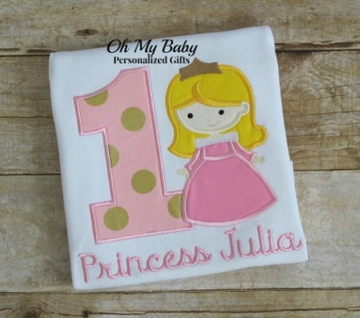 Pink Princess Birthday Shirt