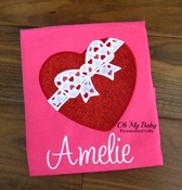 Valentine Glitter Heart with Bow