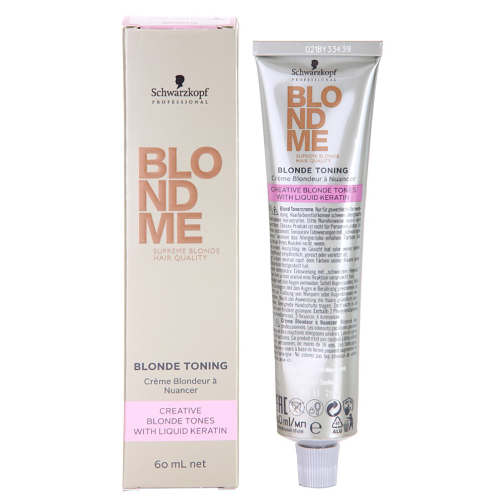 Schwarzkopf Blondme Blonde Toning Toner With Liquid