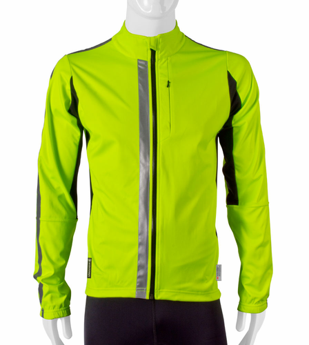 Aero Tech High Visibility Full Zip SoftShell Cycling Jacket w 3M Scotchlite 360 degrees of  Reflective