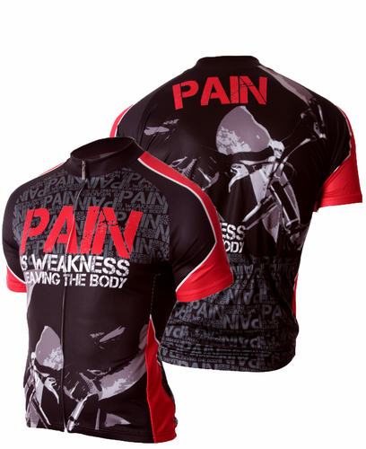 83 Sportswear Pain is Weakness Cycling Jersey