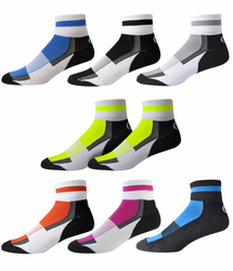 Aero Tech Coolmax Quarter Crew Socks - American Made Sock