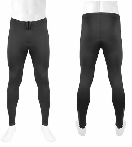 Aero Tech Designs Men's Stretch Fleece Padded Cycling Tights - Made in U.S.A.