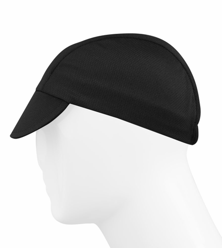 Aero Tech Rush Cycling Caps - Black Biker Hat - Made in USA