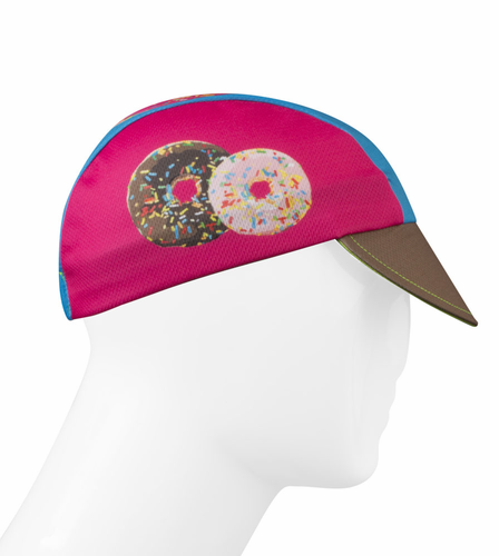 Aero Tech Rush Cycling Caps - Coffee and Donuts - Made in USA