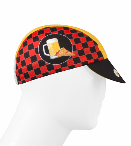 Aero Tech Rush Cycling Caps - Pizza and Beer - Made in USA