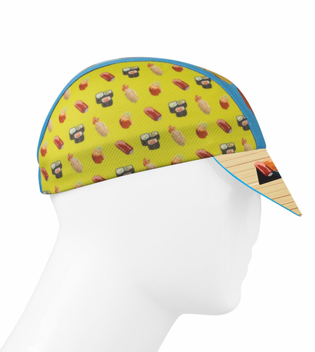 Aero Tech Rush Cycling Caps - Sushi - That's How I Roll, Made in USA