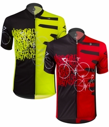 Aero Tech Tall Man Expressions Cycling Jersey - Made in USA