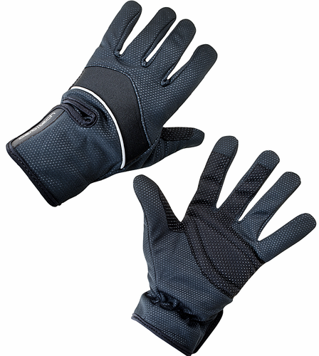 Aero Tech Windproof Thermal Full finger Cycling Gloves BLACK