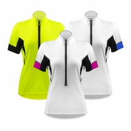 Aero Tech Women's Elite Cycling Jersey with Coolmax Micro-Mesh Fabric