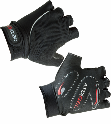 Aero Tech Childrens Gel Padded Fingerless Bike Gloves BLACK