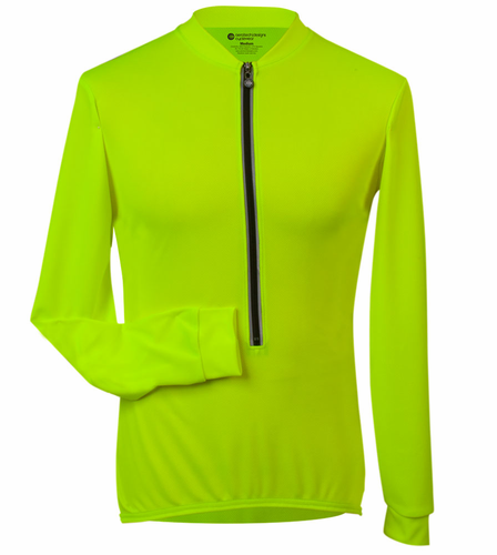 ATD Long Sleeve Cycling Jersey High Visibility Safety Yellow