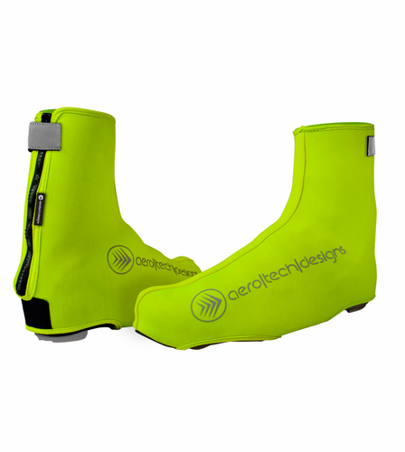 Aero Tech Neoprene Shoe Cover - Hi Viz and Black
