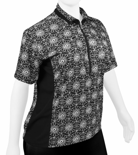 ATD Plus Size Gina Cycling Jersey - Loose Fit Pizelle Print
