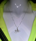 Aero Tech Smooth Sterling Bicycle Necklace