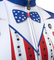 Uncle Sam Patriotic Cycling Jersey in Red White and Blue