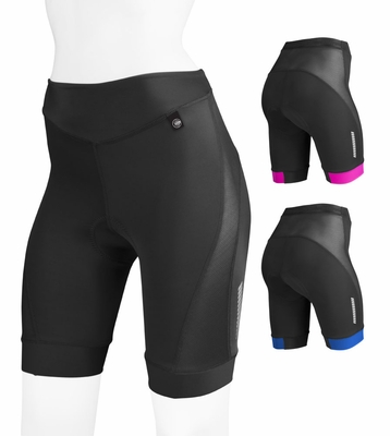 Aero Tech Women's Elite Bike Shorts w Air Gel and AeroCool Mesh Ventilation