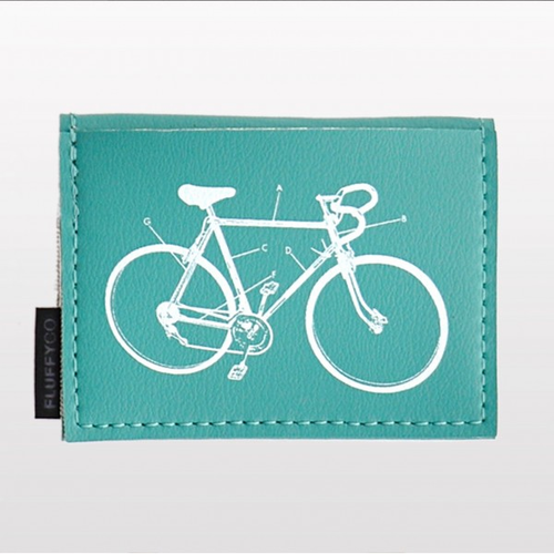 Bicycle Themed Mini Wallet