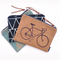 Zippered Utility Bag with Bicycle Screen Print