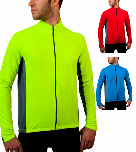 BIG Men's Formaggio Long Sleeve Fleece Cycling Jersey
