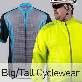 Big/Tall Men's Cycling Apparel