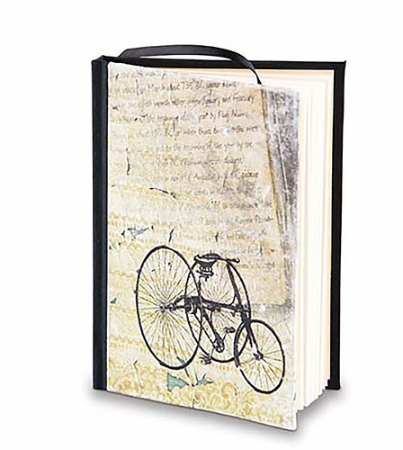 Bike Notebook with Vintage Farthing