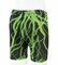 Child's Green Lightning Padded Cycle Short - Made in USA