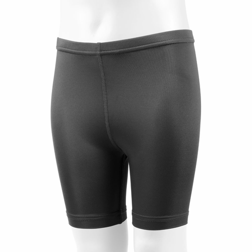 Aero Tech Childs Black Spandex Compression Exercise Short - Unpadded