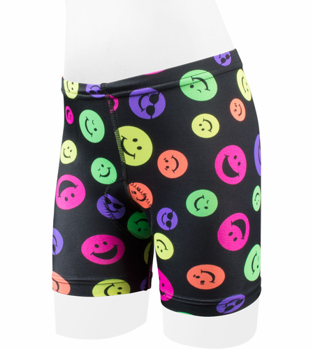 Aero Tech Childs Happy Day Wild Print Padded Bicycle Shorts