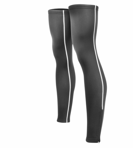 Aero Tech Classic Thermal Leg Warmers w Reflective piping and ankle zippers