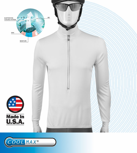 Aero Tech Coolmax Cycling Jersey - Long Sleeve Unisex Design - Ideal Sunblock