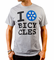 I Heart Bicycles Sprocket T-Shirt - Bicycle love