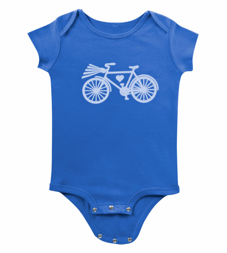 Aero Tech Baby Bicycle Tee - Infant and Toddler Onesie 100% Cotton Bike Tee