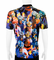 Biker Dudes - Colorful Helmets Bicycle Jersey Size: Med