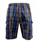 Aero Tech Men's Blue Plaid Cargo MTB Baggy Bike Short w padded liner - Size Small