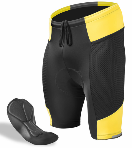 Gel Padded Spandex Bicycle Touring Shorts