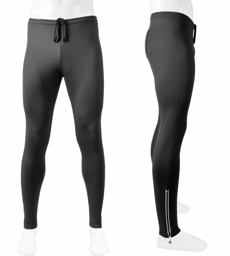 ATD Men's Stretch Fleece Thermal Tights reflective zippers Made in USA