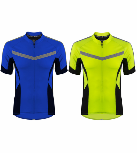 Pace Cycling Jersey|Hi Viz|Big and Tall