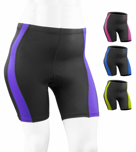 Plus Size Women - An updated Classic - colorful bike shorts with padding.