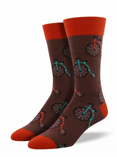 Socksmith Mens Penny Farthing Bicycle Socks
