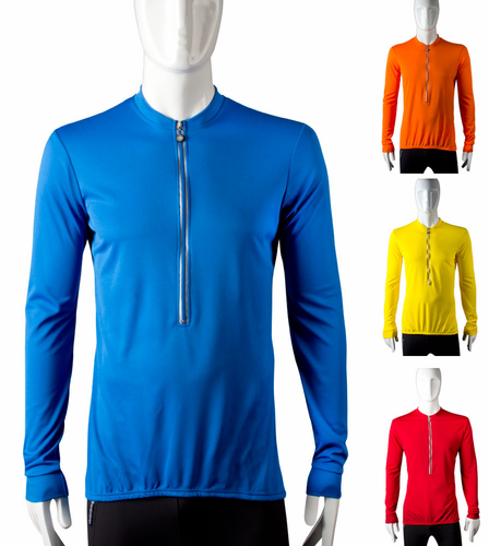 Aero Tech Tall Bike Jersey - Long Sleeve Cycling Top with back Pockets