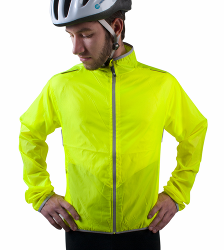 Aero Tech TALL Windbreaker Jacket Hi-Vis Visibility Yellow