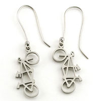 Tarma Tandem Bike Dangle Earrings