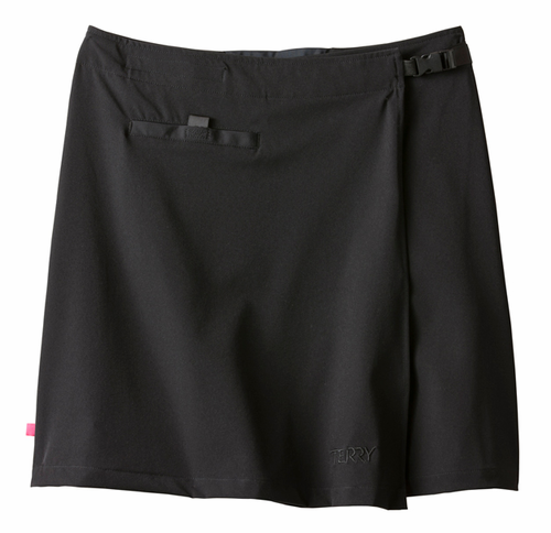 Terry PLUS Women's Cycling Wrapper Cover Up Skirt BLACK